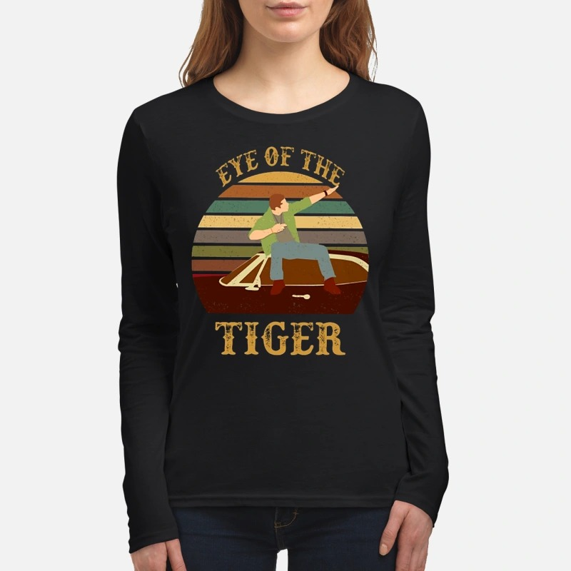 Dean Winchester eye of the tiger women's long sleeved shirt