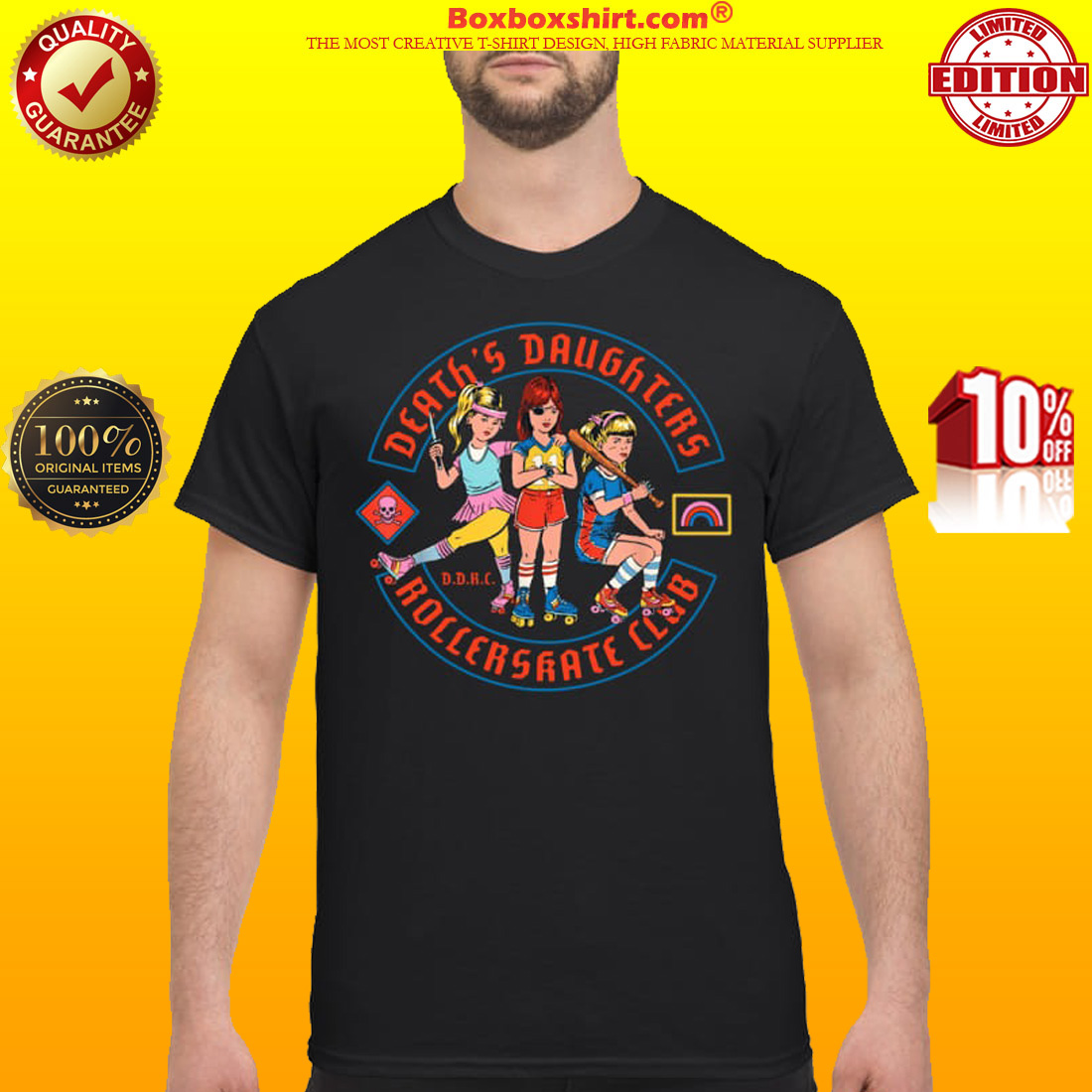 Death's daughters roller skate club classic shirt