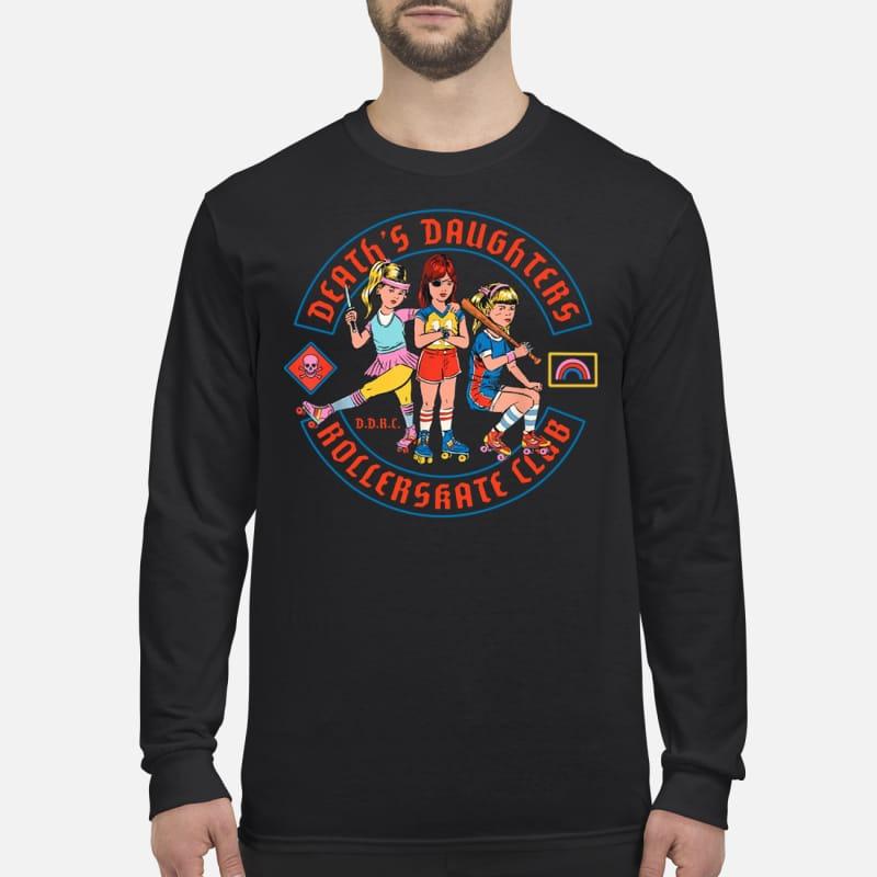 Death's daughters roller skate club men's long sleeved shirt