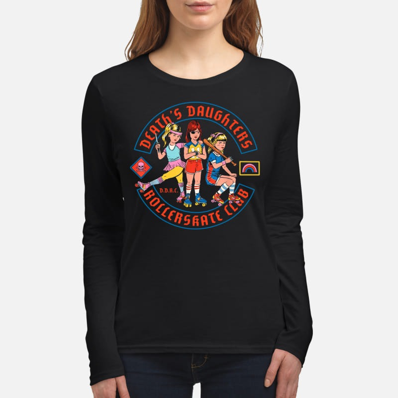 Death's daughters roller skate club women's long sleeved shirt