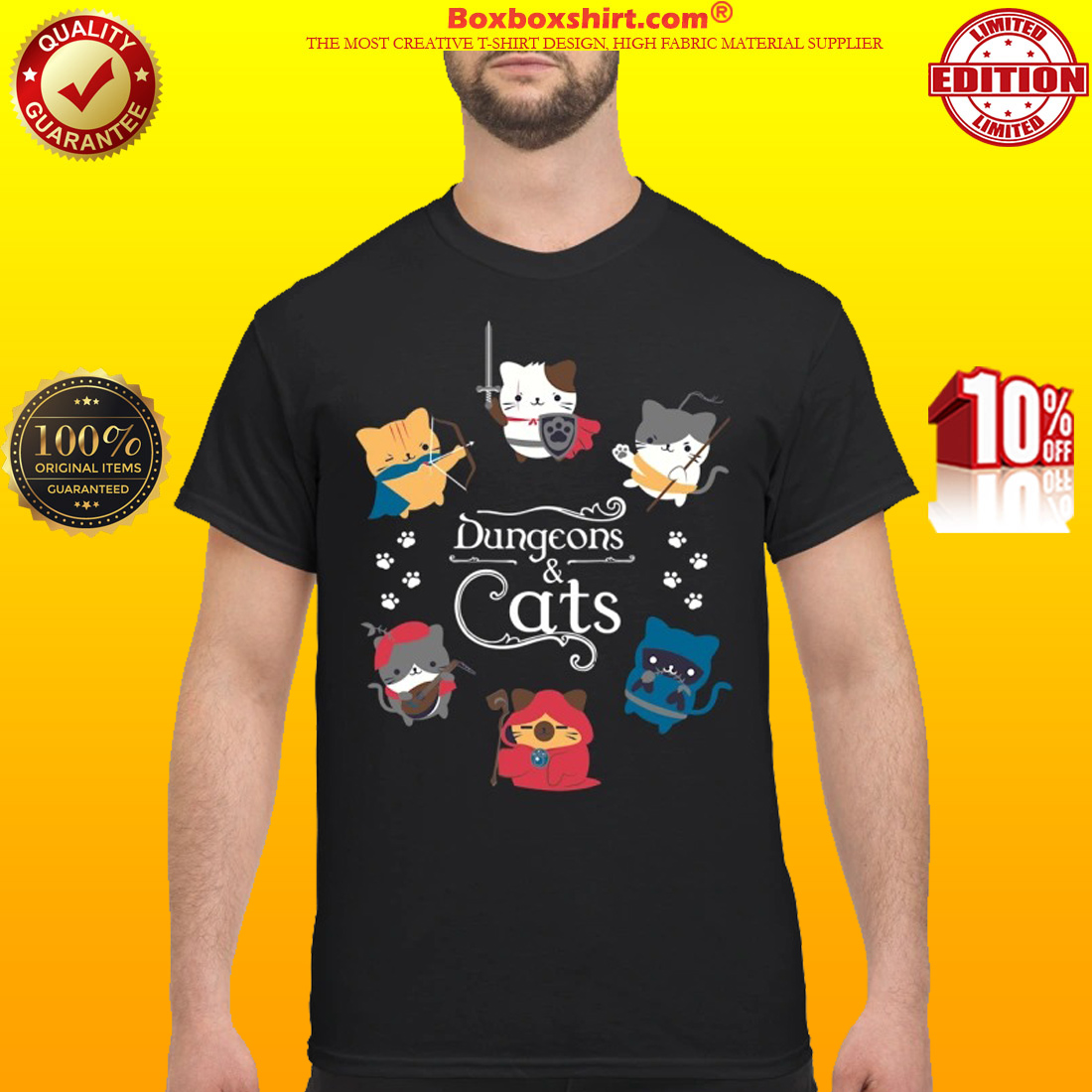 Dungeons and cats classic shirt