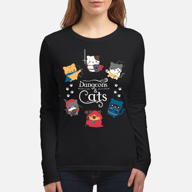 Dungeons and cats women's long sleeved shirt