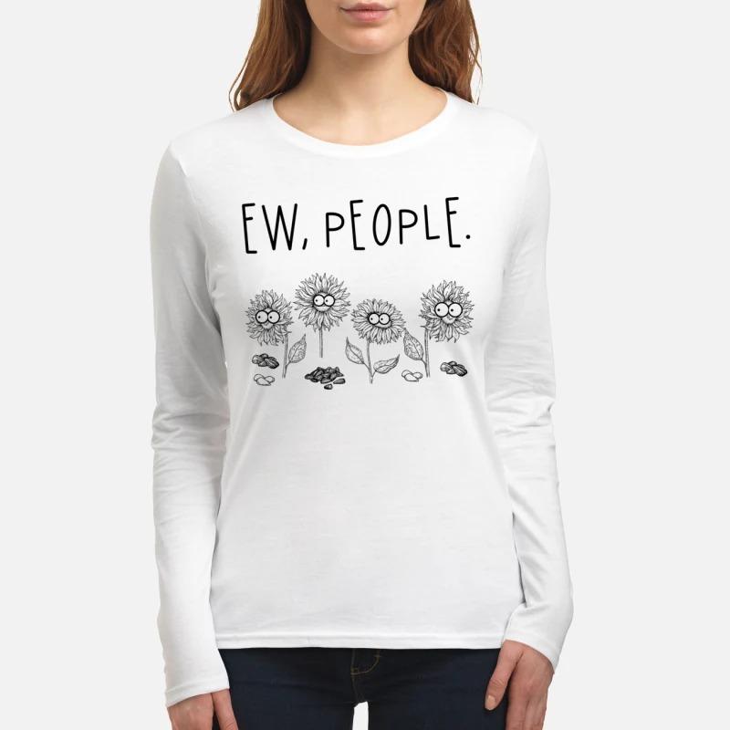 Ew people sunflowers women's long sleeved shirt