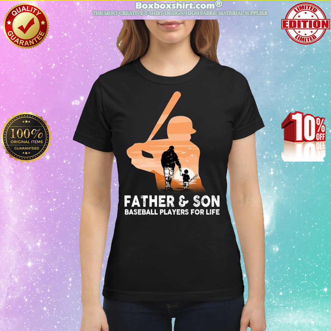 Father and son baseball players for life classic shirt