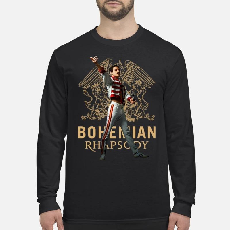 Freddie Mercury bohemian rhapsody men's long sleeved shirt