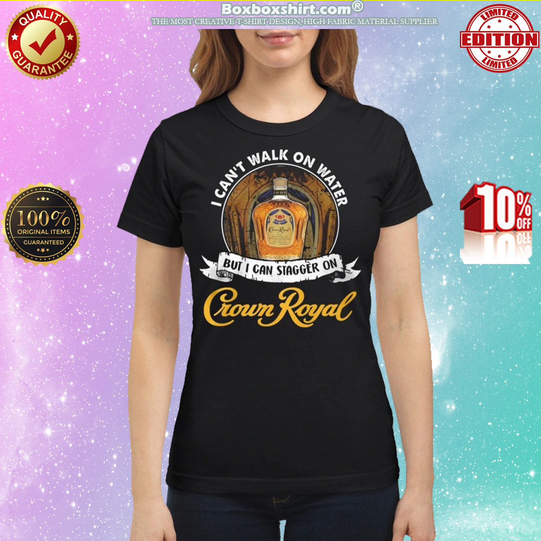 I can't not walk on water but I can stagger on Crown Royal classic shirt