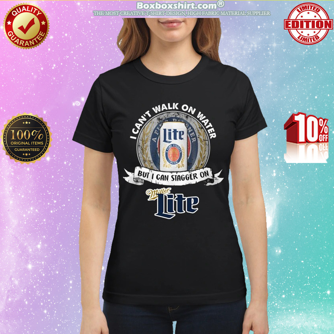 I can't walk on water but I can stagger on Miller Lite classic shirt