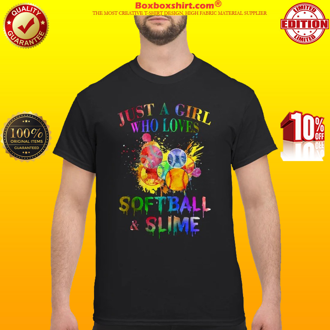 Just a girl who loves softball and slime classic shirt