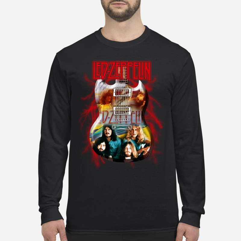 Led Zeppelin and guitar men's long sleeved shirt