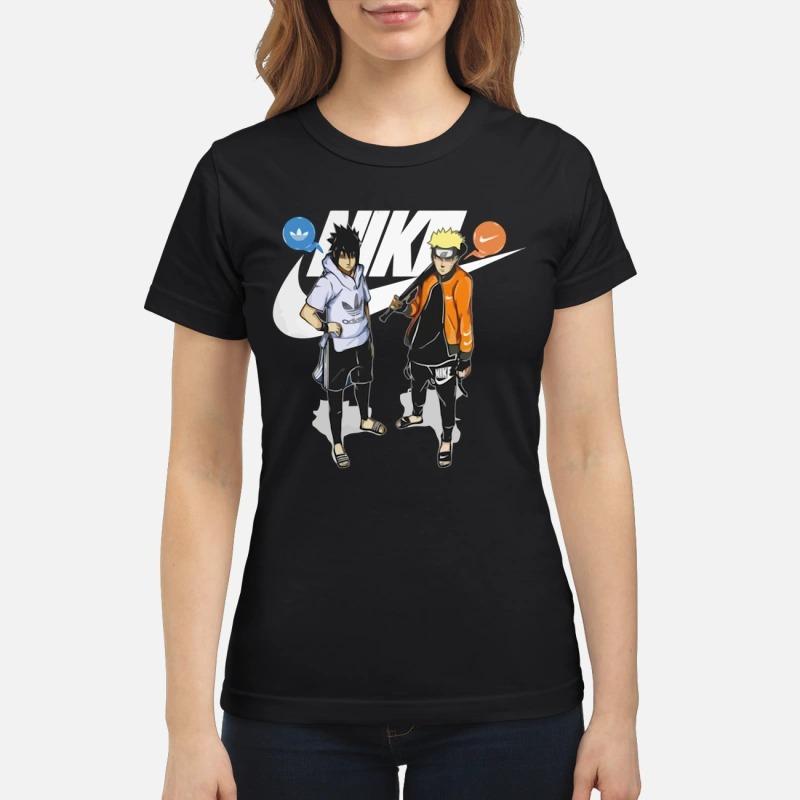 Nike Naruto and Adidas Sasuke classic shirt