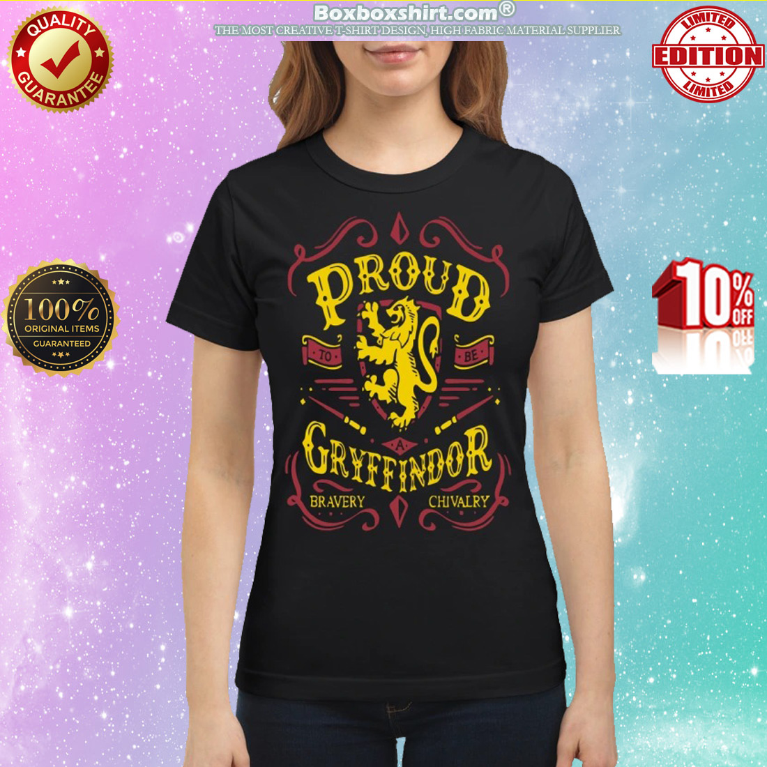 Proud to be a Gryffindor bravery chivalry classic shirt