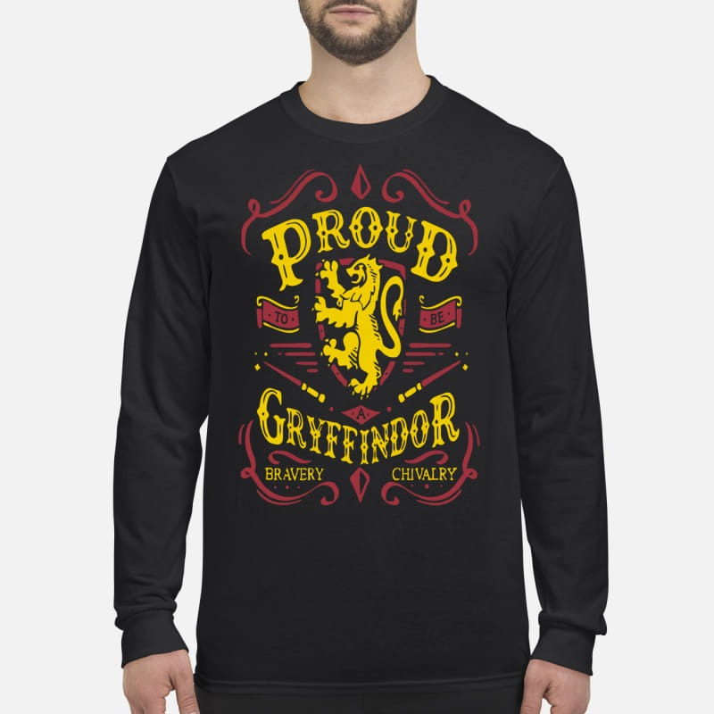 Proud to be a Gryffindor bravery chivalry men's long sleeved shirt