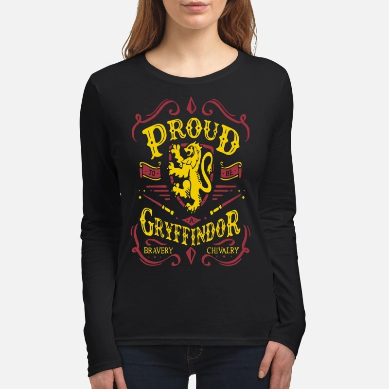 Proud to be a Gryffindor bravery chivalry women's long sleeved shirt