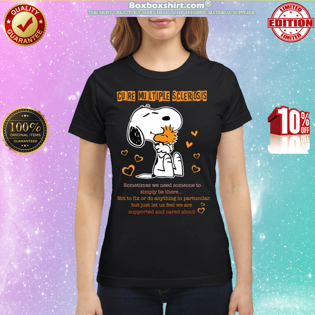 Snoopy and woodstock cure multiple sclerosis classic shirt