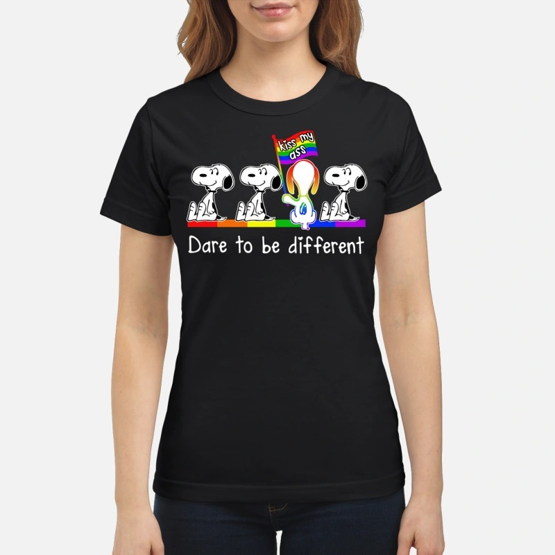 Snoopy dare to be different kiss my ass classic shirt