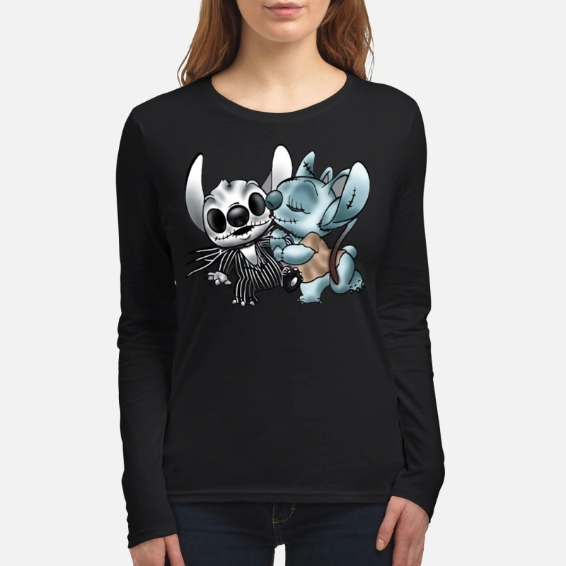 Stitch Jack Skelington and Sally women's long sleeved shirt