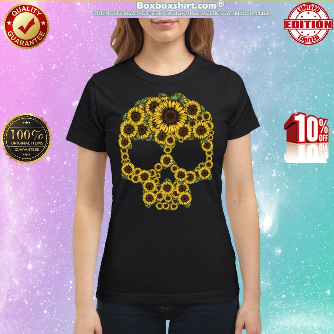 Sunflower skull classic shirt