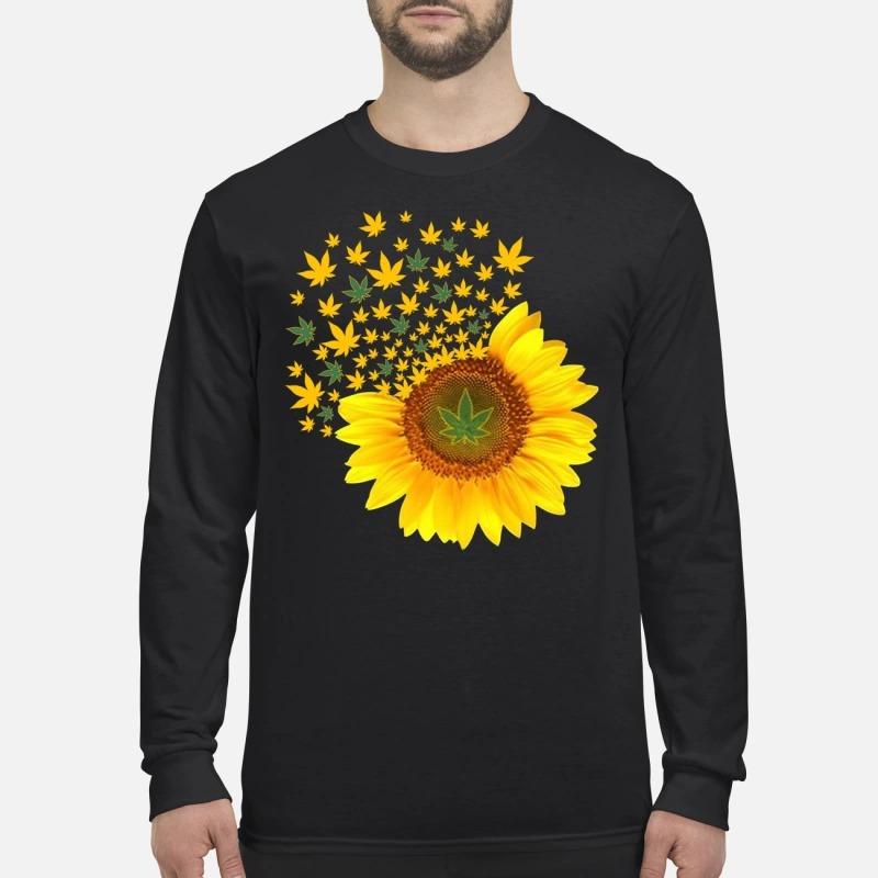 Sunflower weed men's long sleeved shirt