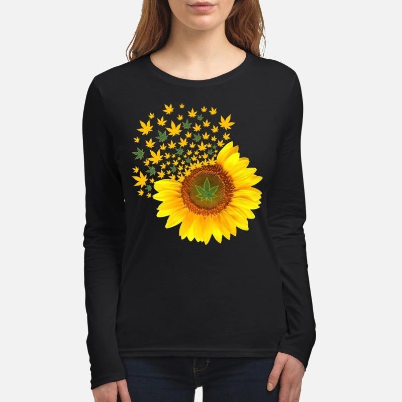 Sunflower weed women's long sleeved shirt