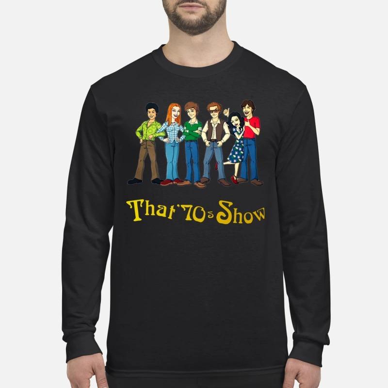 That 70s show cartoon men's long sleeved shirt