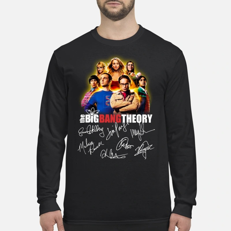 The Big Bang theory all signatures men's long sleeved shirt
