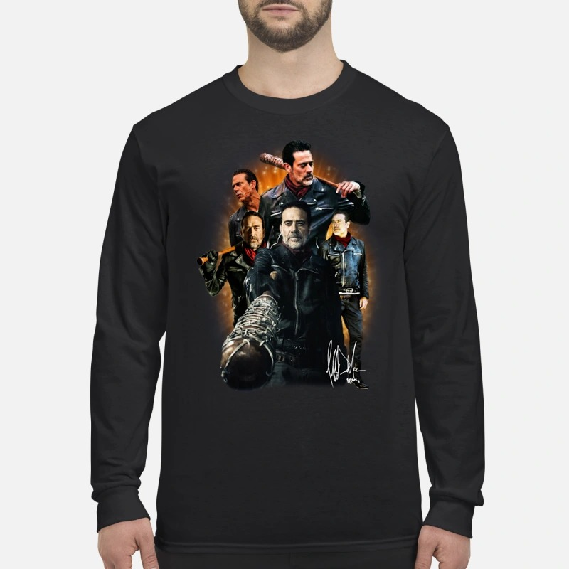 The Walking Dead Negan signature men's long sleeved shirt