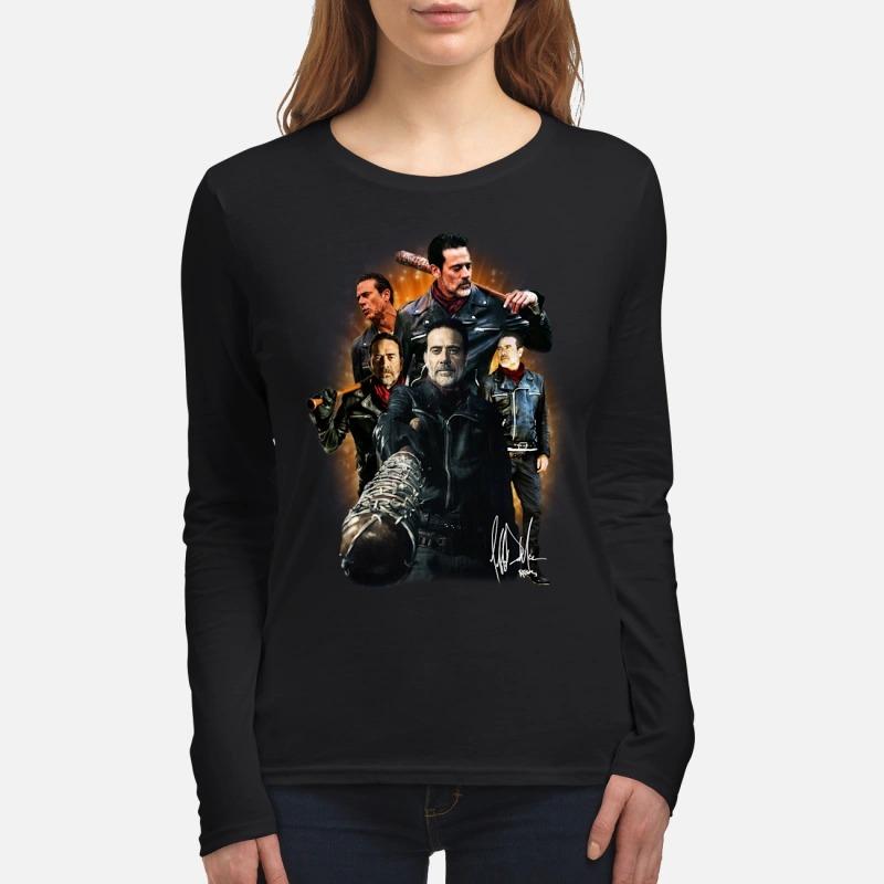 The Walking Dead Negan signature women's long sleeved shirt