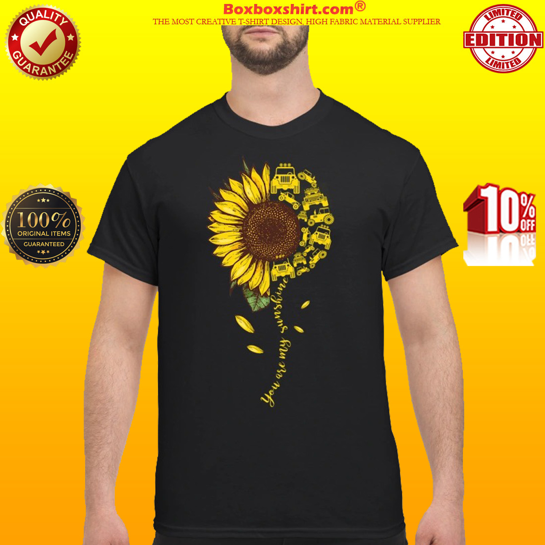 You are my sunshine jeep car classic shirt
