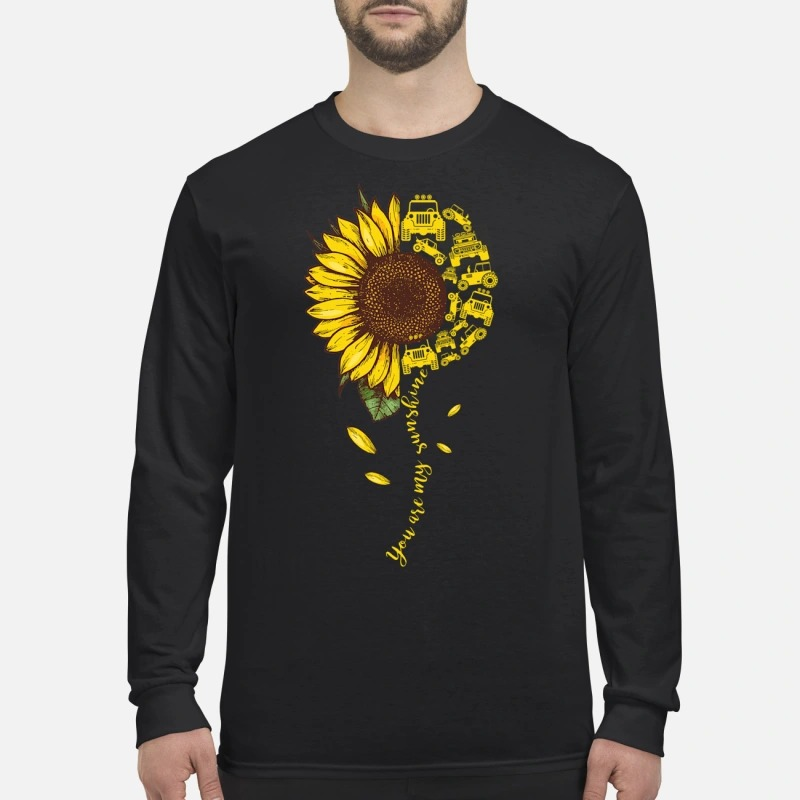 You are my sunshine jeep car men's long sleeved shirt
