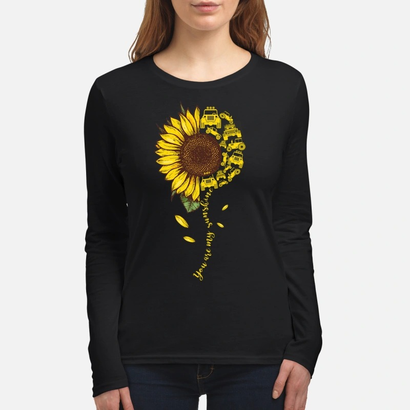 You are my sunshine jeep car women's long sleeved shirt