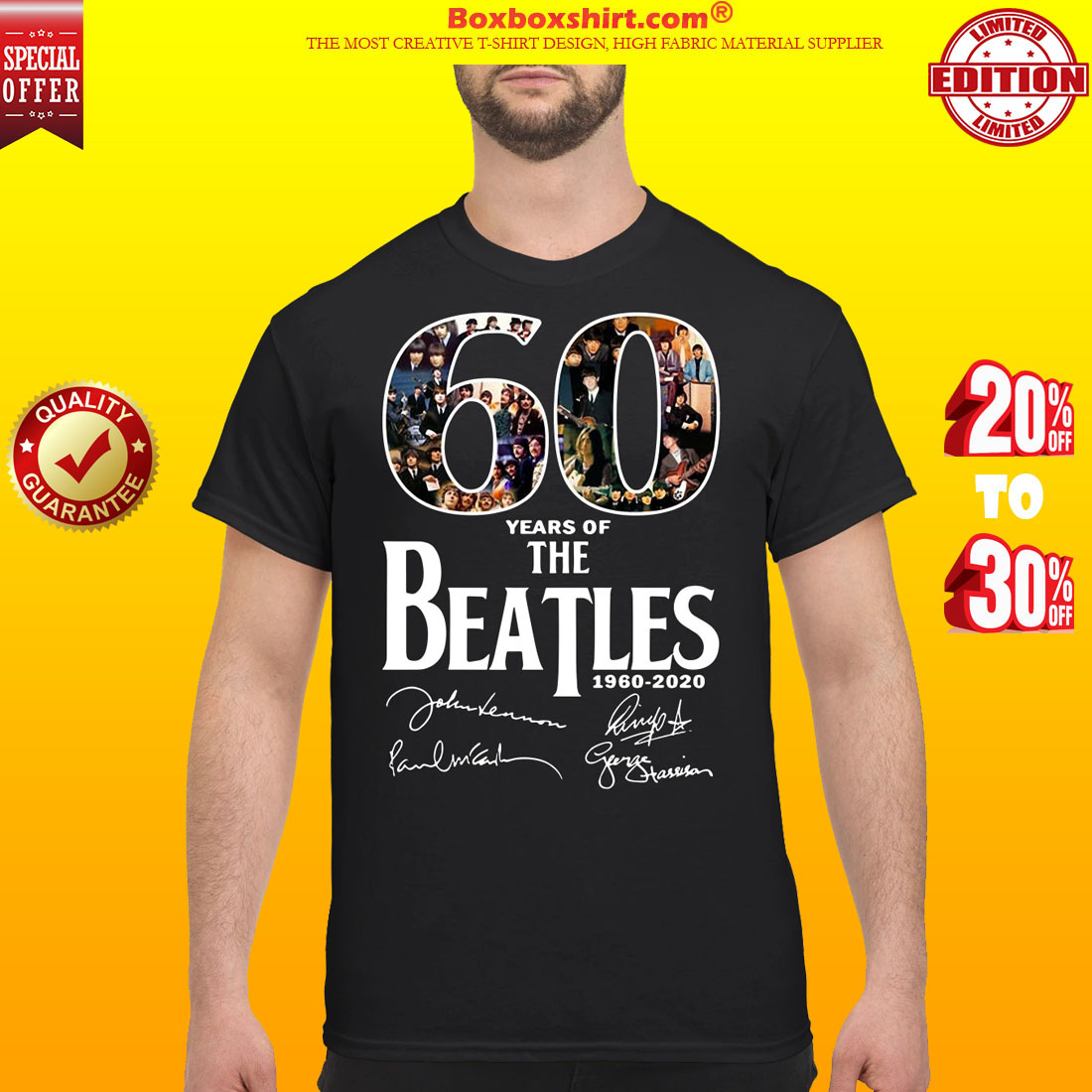 60 Years Of The Beatles signatures shirt