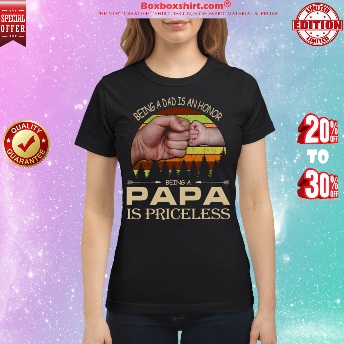 Being a dad is an honor being a papa is priceless classic shirt