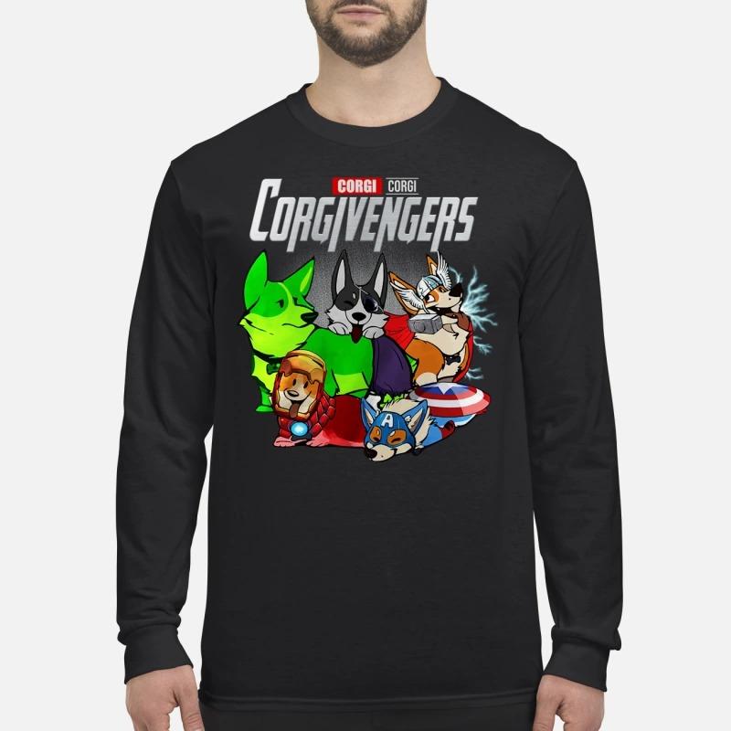 Corgi avengers Corgivengers men's long sleeved shirt