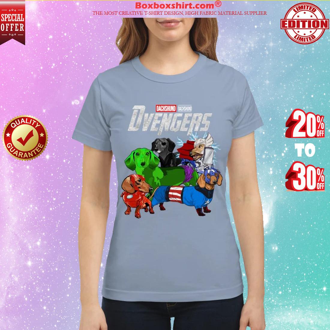 Dachshund Devengers avenger classic shirt