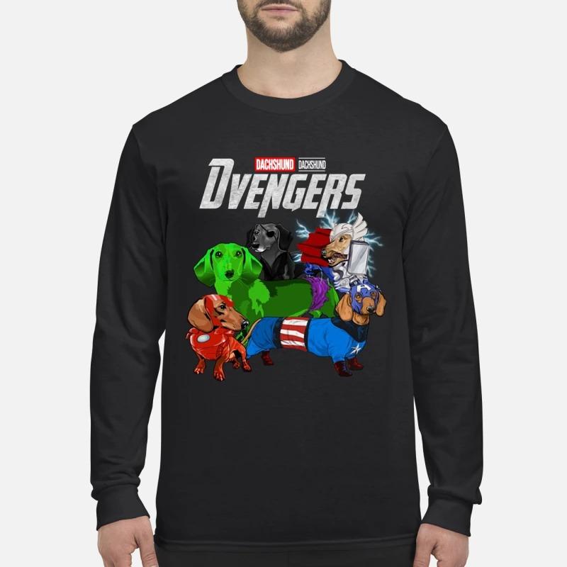 Dachshund Devengers avenger men's long sleeved shirt