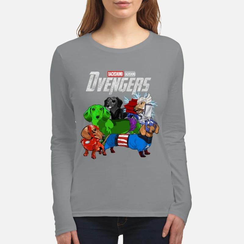 Dachshund Devengers avenger women's long sleeved shirt