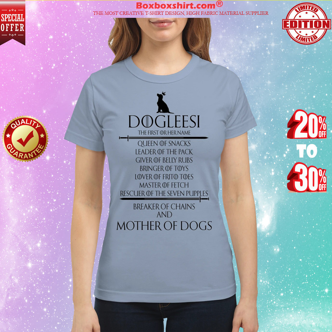 Dogleesi mother of dogs classic shirt