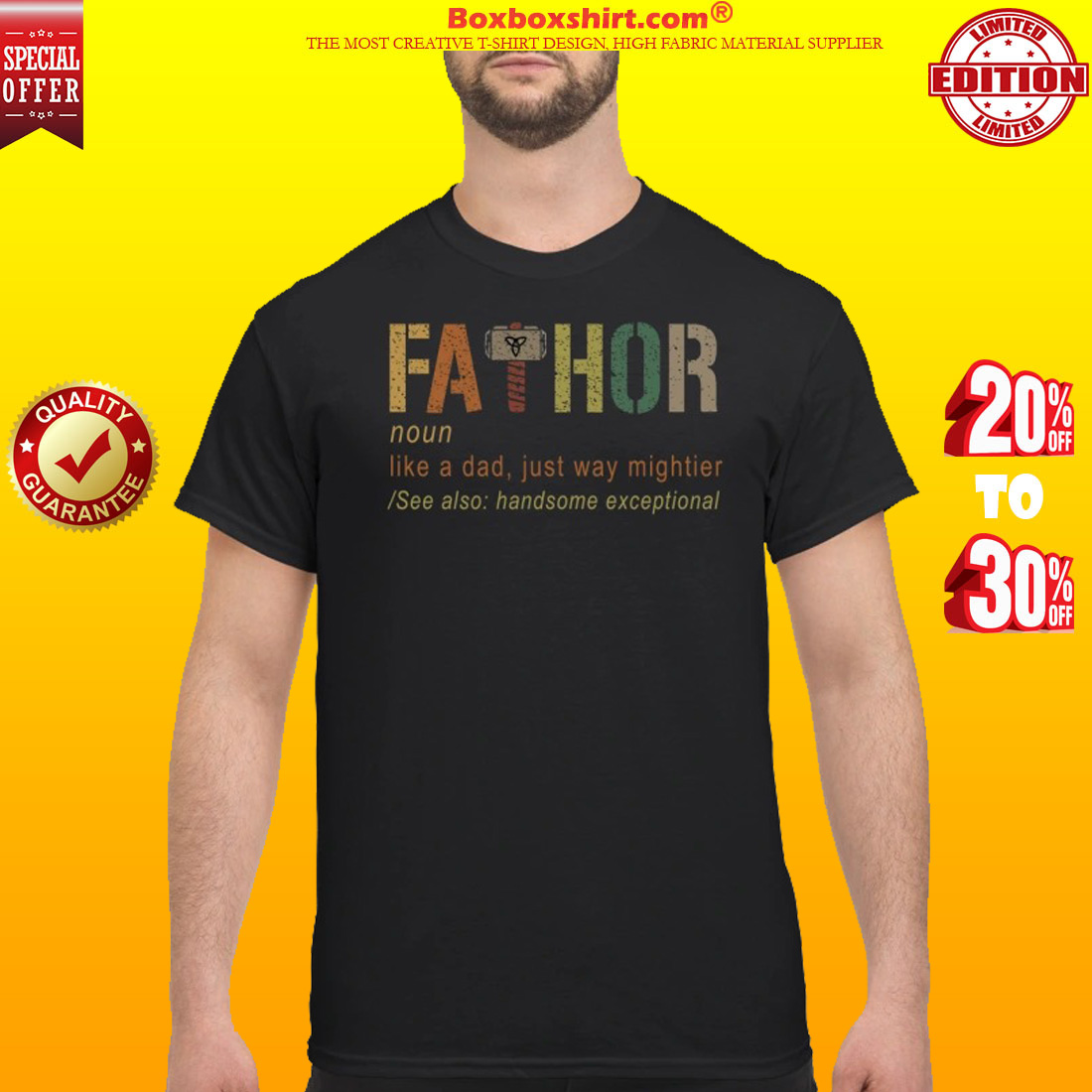 Fathor like a dad just way mightier classic shirt