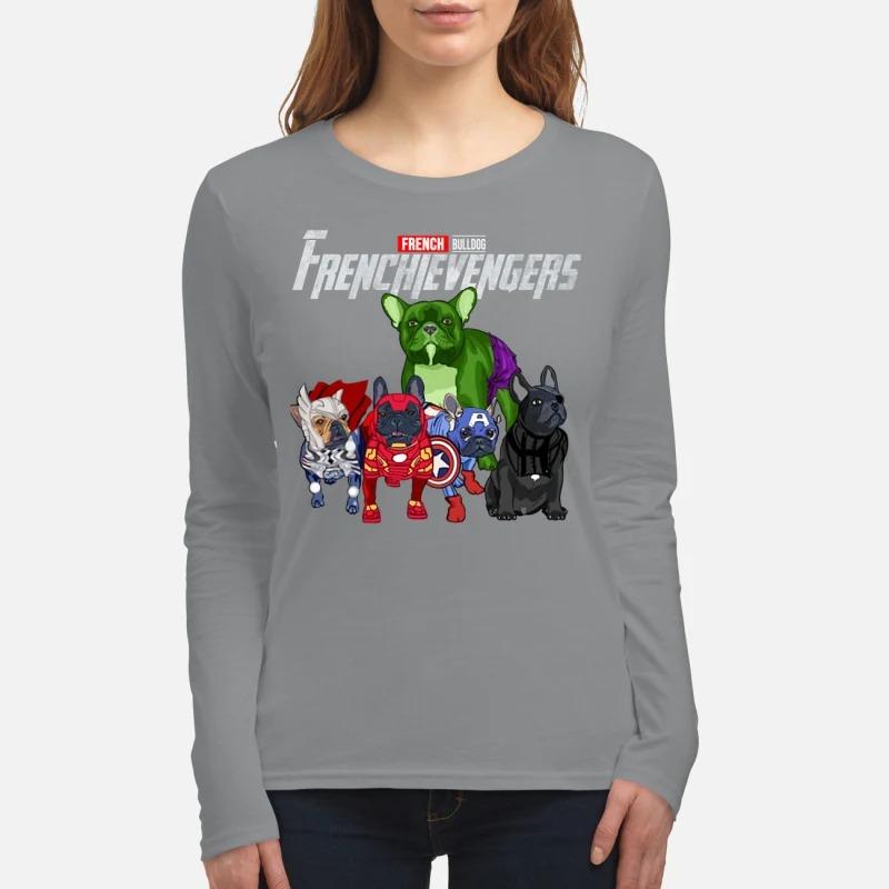 French bulldog frenchievengers women's long sleeved shirt