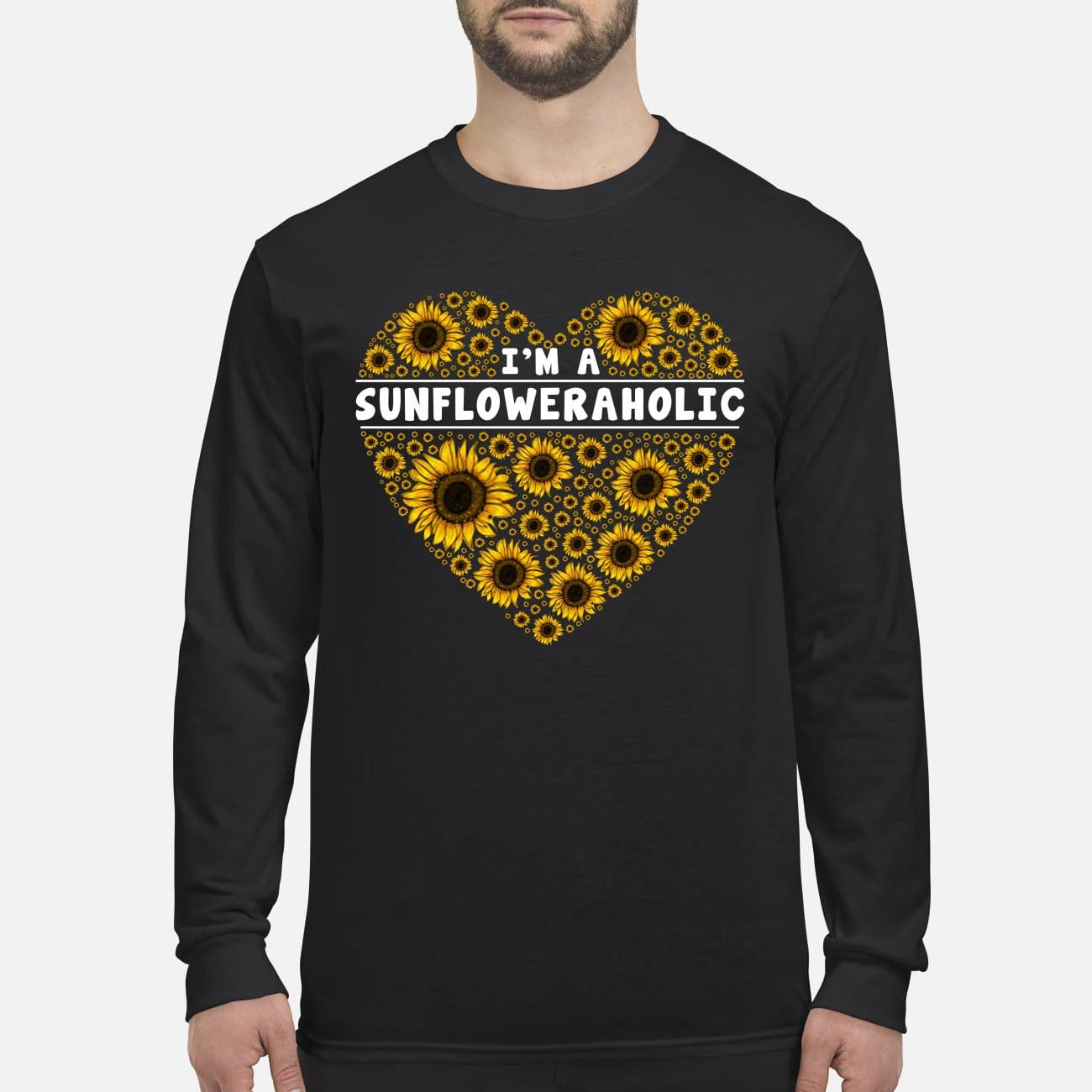I'm a sunfloweraholic men's long sleeved shirt
