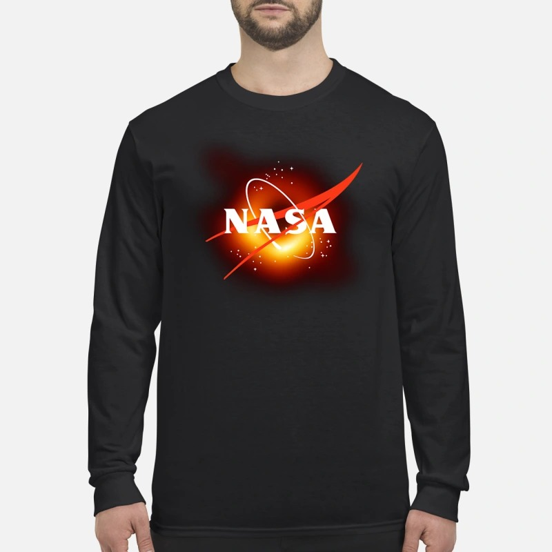 NASA black hole men's long sleeved shirt