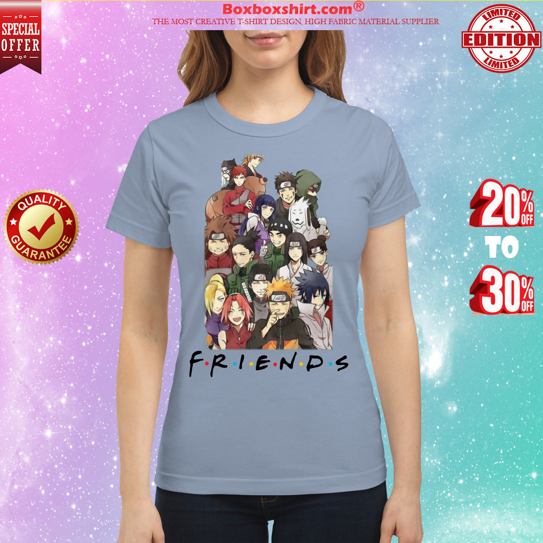 Naruto movie friends classic shirt