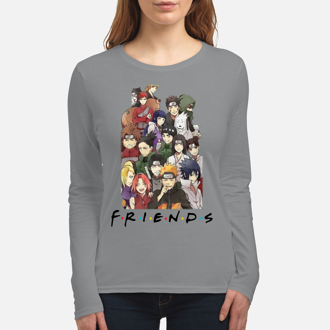 Naruto movie friends women's long sleeved shirt