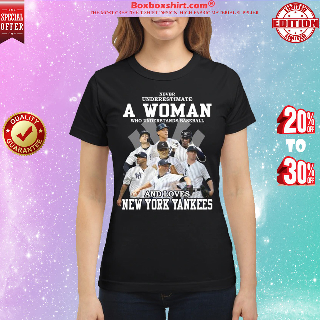 ed72acca Never underestimate a woman who understands baseball and loves New York  Yankees classic shirt