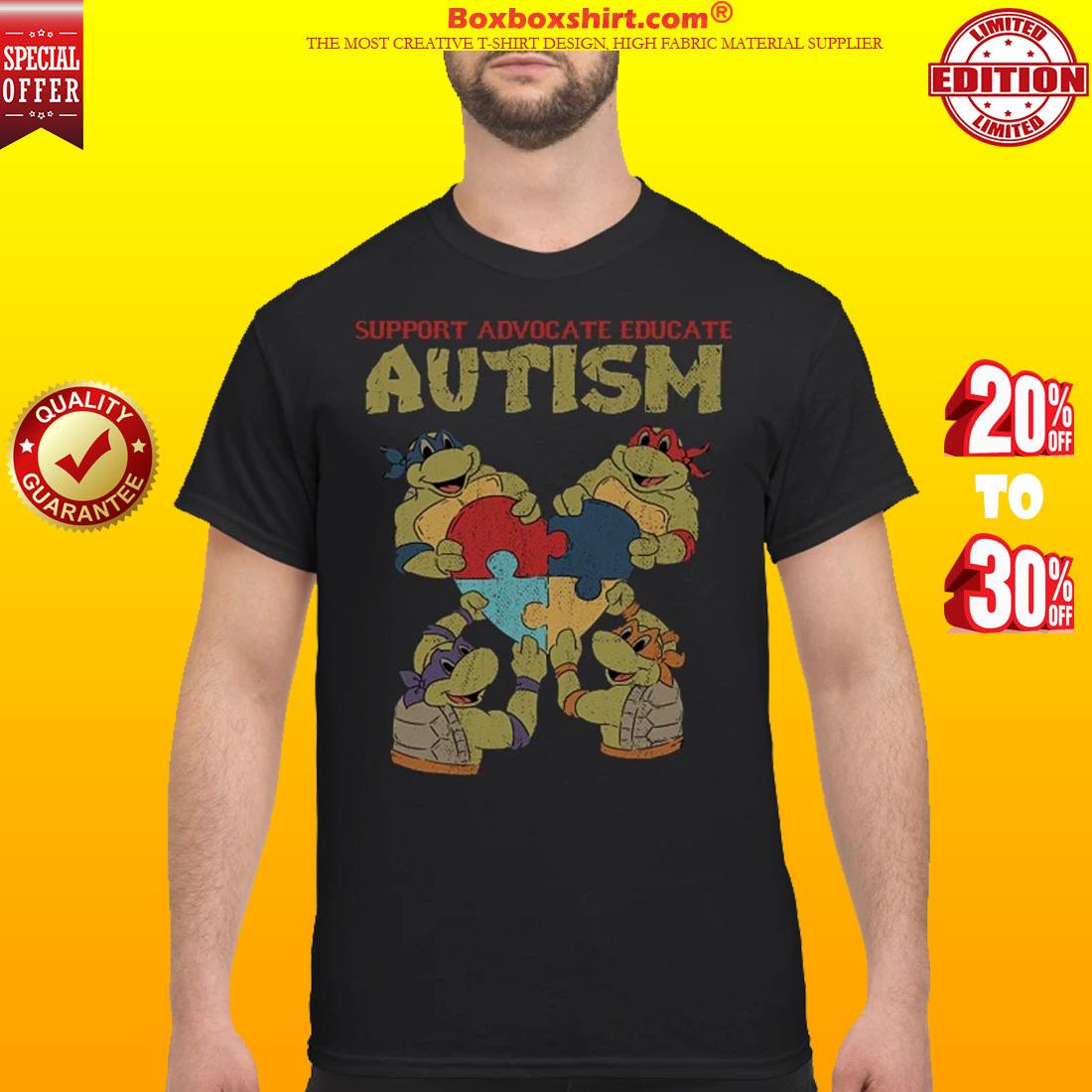 e2996526db91 10% OFF] Ninja turtle support advocate educate autism shirt