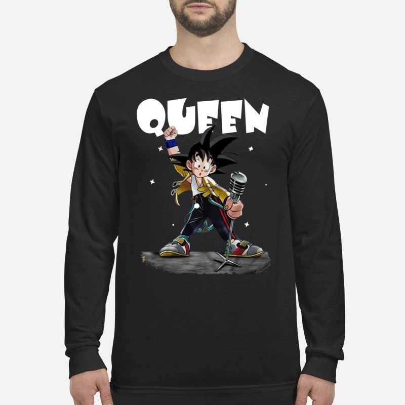 Queen Freddie Mercury Songoku men's long sleeved shirt