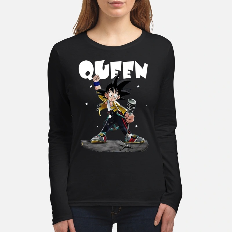 Queen Freddie Mercury Songoku women's long sleeved shirt