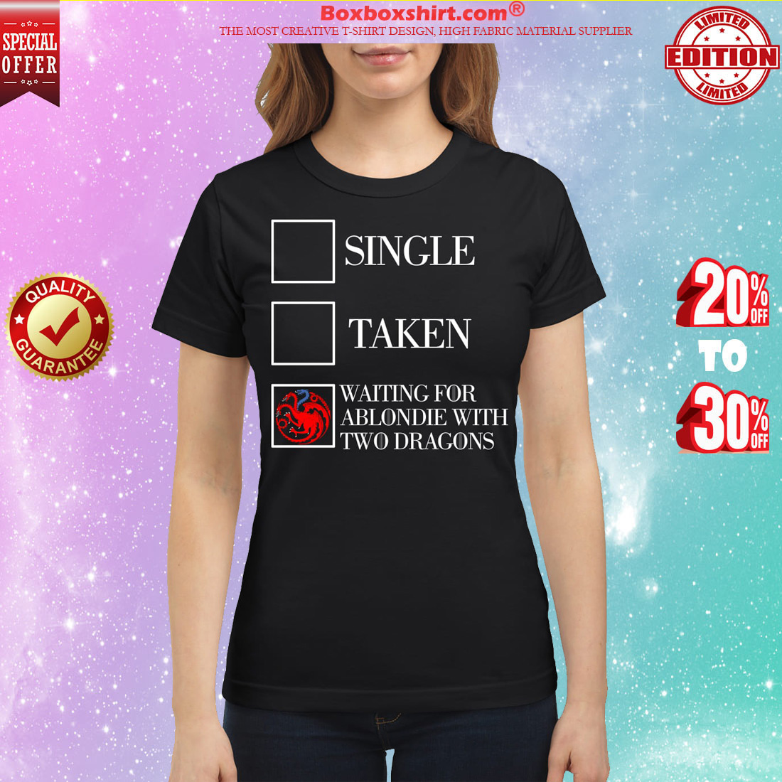 Single taken waiting for a blondie classic shirt
