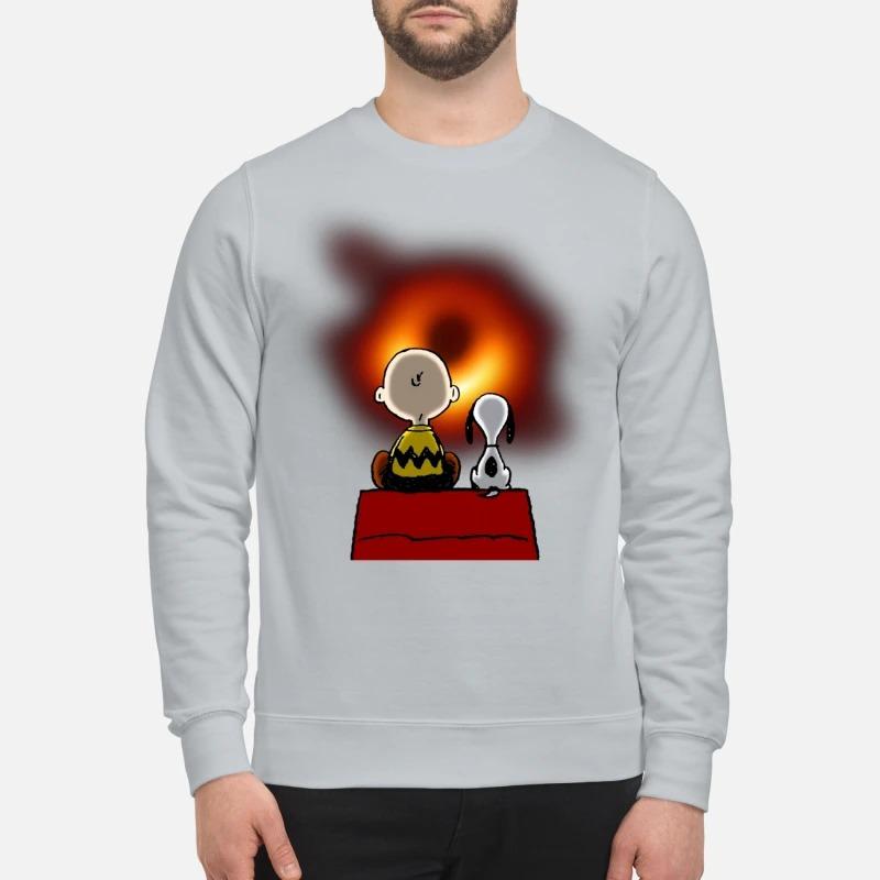 Snoopy Charlie Brown NASA black hole sweatshirt