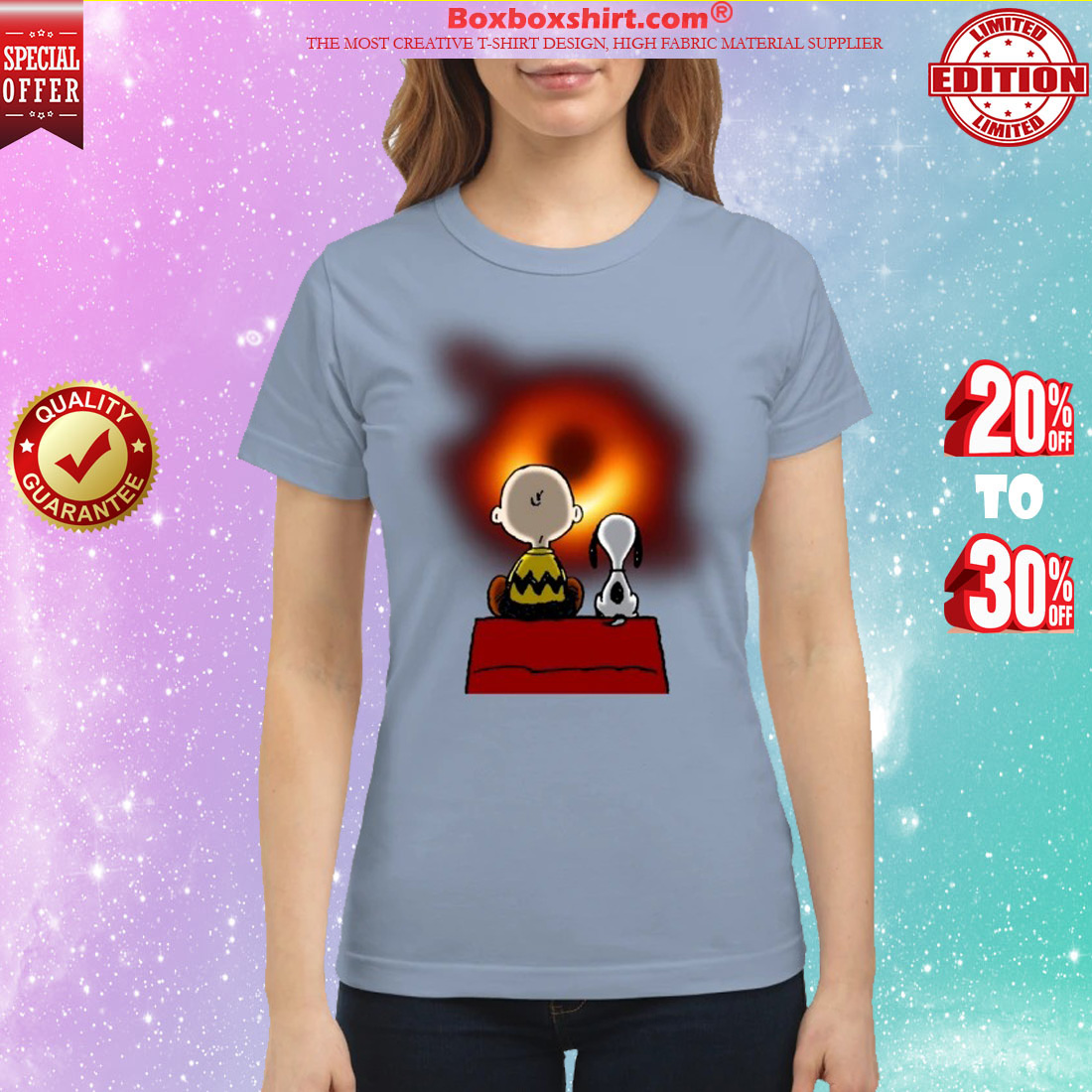 Snoopy and Charlie Brown Black Hole classic shirt